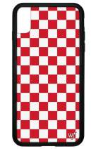 Wildflower Limited Edition Cases for iPhone Xs Max (Red Checkers)