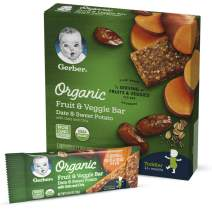 Gerber Organic Fruit & Veggie Bar Date & Sweet Potato, 40 Count