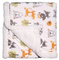 Baby Fleece Blanket with Sherpa Backing Super Soft Unisex Baby Plush Blankets for Girls Boys Newborn Toddler30 40""