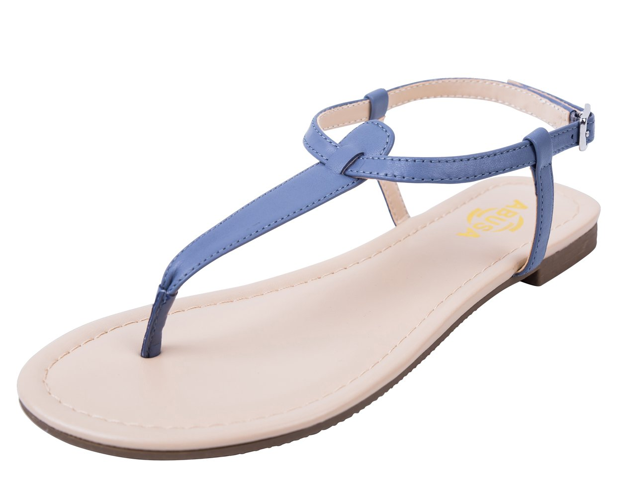 ABUSA Women's Leather/Suede Foldable Sandals Shoes