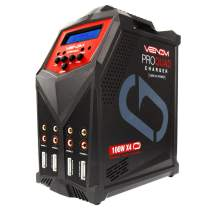 Venom Pro Quad LiPo Battery Fast Charger   4 Ports at 100W Each   AC DC 7A Fast NiMH LiHV LiPo Balance Charger Discharger with XT60, HXT, Traxxas to EC3, JST, Deans Connector, Tamiya Charger