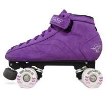 Bont Skates | Prostar Suede Roller Skates Purple | Indoor and Outdoor | Glide Wheel 57x32mm 78A | Youth - Boys - Girls - Men - Women