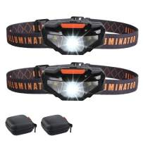 2 LED Headlamps Flashlights with Portable Cases,COSOOS Bright Running Headlamp,Waterproof Head Lamps,Small Headlights for Adults,Kids,Runner,Camping,Night Jogging,Reading,Only 1.6oz/48g(NO AA Battery)