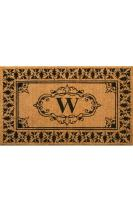 """nuLOOM Natura Collection Natural Fibers Novelty Outdoor Machine Made Area Rug, 2' 6"""" by 4', Letter W"""