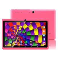 7 inch Tablet Google Android 8.0 Quad Core 1024x600 Dual Camera Wi-Fi Bluetooth 1GB/8GB Play Store Netfilix Skype 3D Game Supported GMS Certified (Pink)