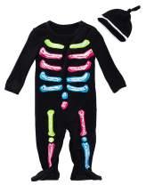 FANCYINN Baby Skeleton Costume Christmas Outfits & Bone Skull Tulle Skirt Romper Toddler Costumes 2pcs