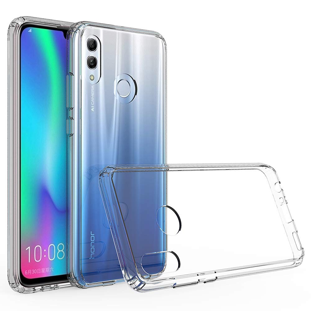 Olixar for Huawei P Smart 2019 Bumper Case - Hard Tough Cover - Crystal Clear Back - ExoShield - Shock Protection - Clear