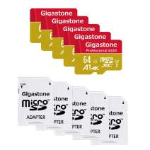 Gigastone 64GB 5-Pack Micro SD Card, Professional 4K Ultra HD, High Speed 4K UHD Gaming, Micro SDXC UHS-I U3 C10 Class 10 95MB/s Memory Card with Adapter, 5-Year Warranty