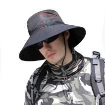 Inconly Sun Protection Hat Summer Men Outdoor Bucket Fishing Hats Wide Brim Lightweight
