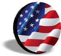 TIRE COVER CENTRAL US American Flag Designs Eagle Horse Peace Spare Tire Cover (Select tire Size/Back up Camera Option in MENU) Custom Sized to Any Make/Model 255/75R17