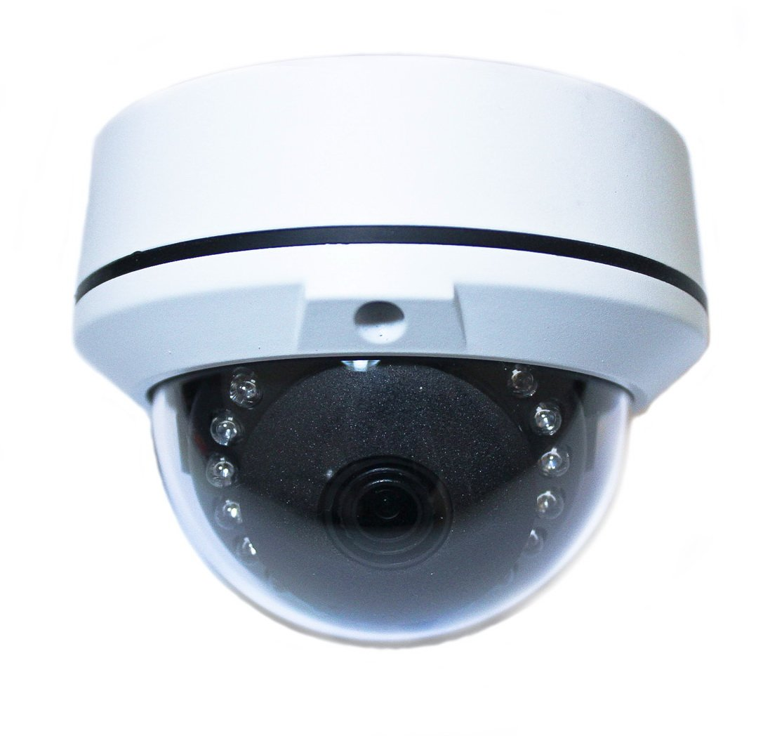 Gawker 1080P HD-TVI 1080P Sony Sensor Dome CCTV Camera, IP66 Weather Proof, 3.6mm Lens, IR Smart, White Color Metal case, DC12V