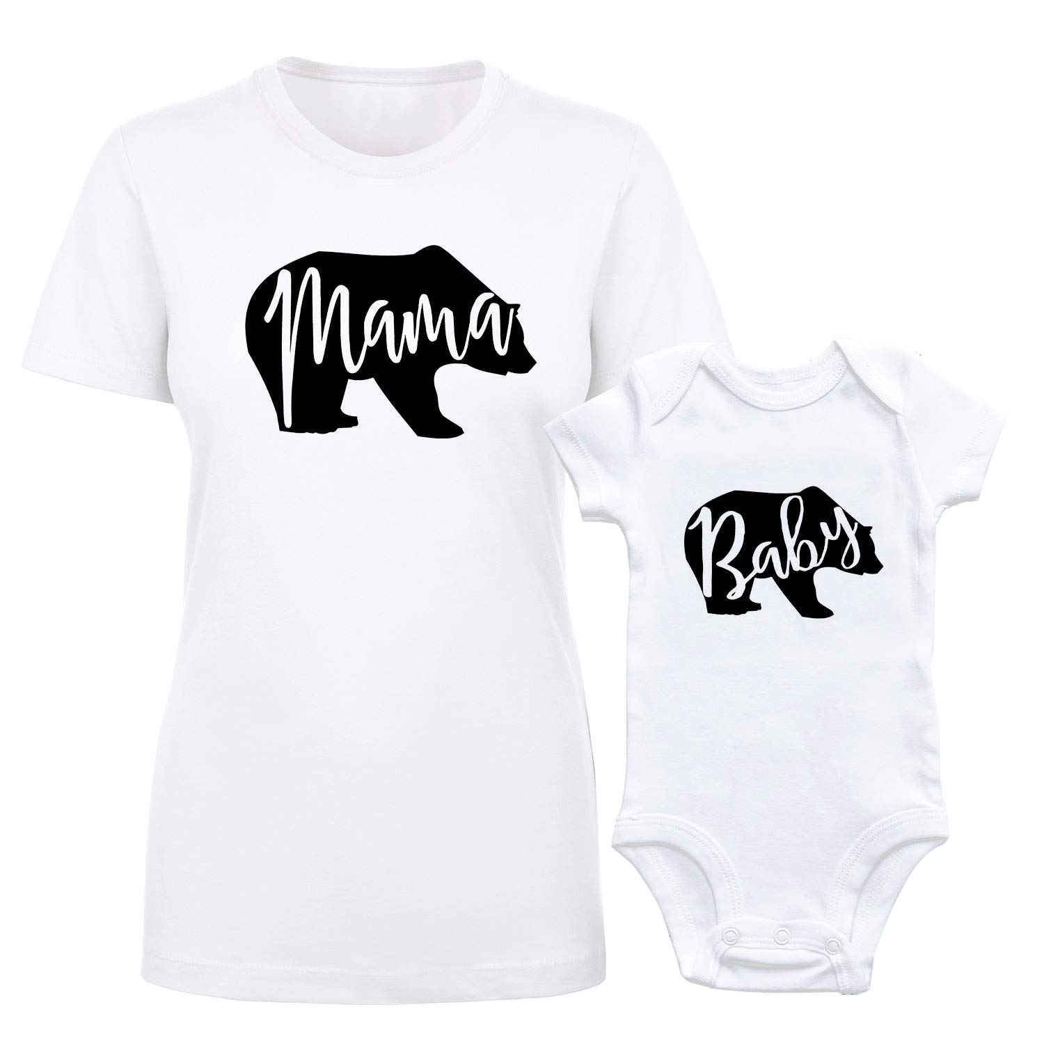 Mama Bear Baby Bear Bodysuit Newborn Girl Boy Infant Outfits Mommy and Me Clothes