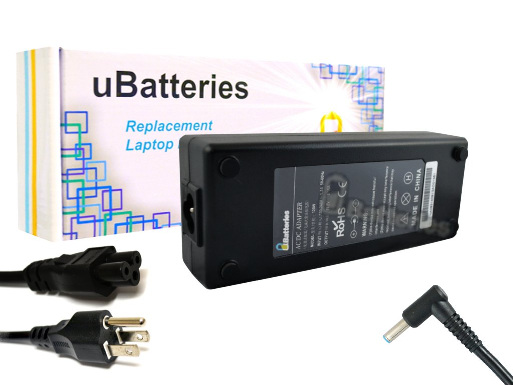 UBatteries Compatible 19.5V 120W AC Adapter Charger Replacement for HP Envy 15 17, HP TouchSmart 15 17, HP OMEN 15 17 Part# HSTNN-CA25 709984-001 709984-002 709984-003 710415-001 Series