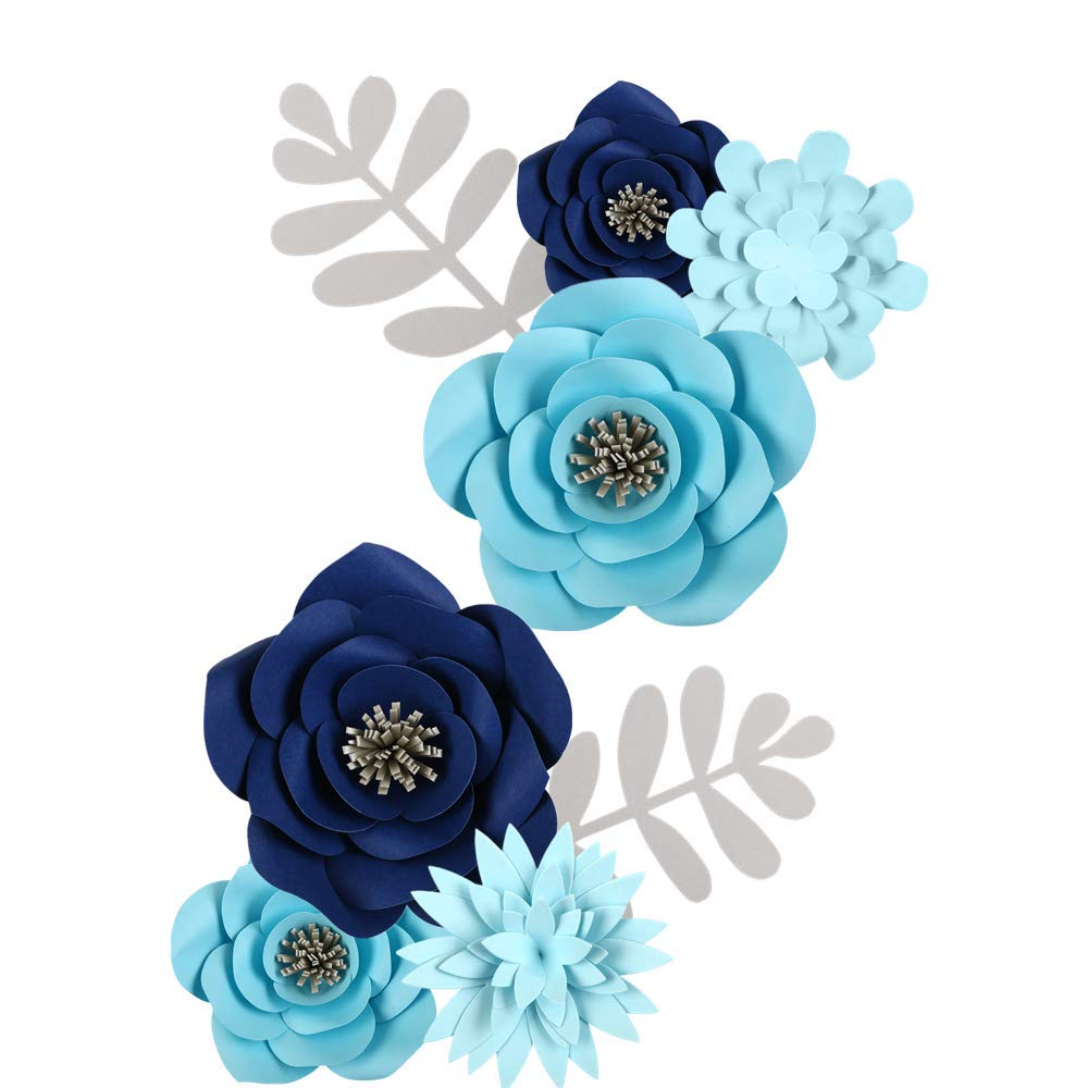 Paper Flowers Decorations for Wall Backdrop, Photo Booth Frame, Pre-Assembled DIY Design 3D Giant Artificial Flower for Birthday Party, Baby Shower, Wedding, Graduation, Nursery and Christmas