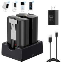 KIMILAR Battery Charger Compatible with Video Doorbell 2, Spotlight Cam, Peephole Cam & Stick Up Cam, Dual Port Rechargeable Charging Station with Fast Charging Adapter (Batteries NOT Included)