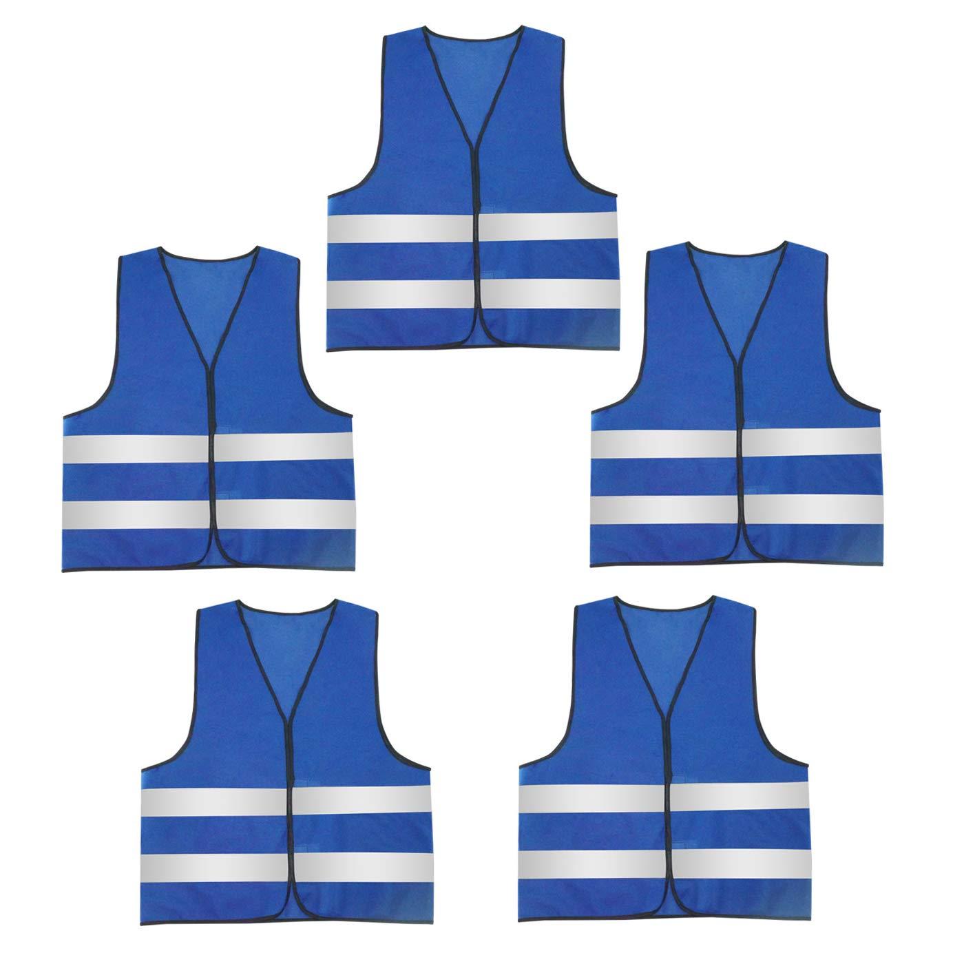 AIEOE Mens 5/10 Pack High Visibility Reflective Vest Hi-vis Bright Color Construction Safety Vest
