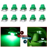 cciyu Green B8.5D 1SMD 5050 Bulb Car LED Instrument Indicator Light Bulb C5W Side Interior Lamp Pack of 10