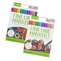 Fine Line Thin Point Markers – Classic or Contemporary Options with 12 Colors Each – Get an Individual Variation or 1 of Each – For High Detail Coloring (Set of Both)