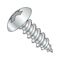 "Steel Sheet Metal Screw, Zinc Plated, Truss Head, Phillips Drive, Type A, #6-18 Thread Size, 3/4"" Length (Pack of 100)"