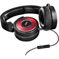 AKG K619RED Premium DJ Headphones with In-Line Remote and Microphone, Red