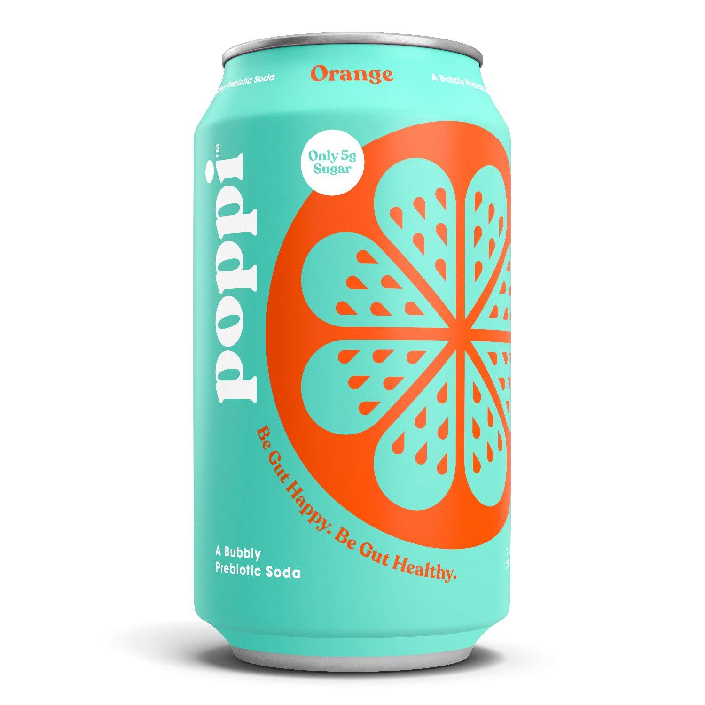 poppi (12 Pack) Prebiotic Soda Infused with Apple Cider Vinegar, Orange, 20 calories, 5g Sugar, 12 fl oz Cans