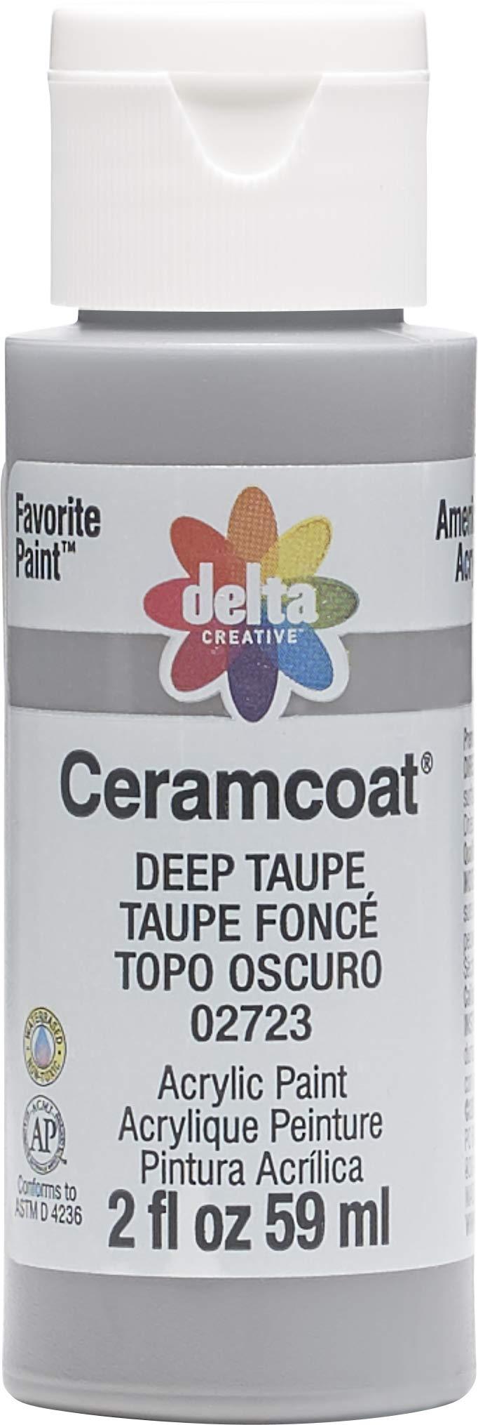 Plaid:Delta 02723 Ceramcoat Acrylic Paint, 2 oz, Deep Taupe
