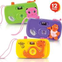 ArtCreativity Kids' Camera Toy Set - Pack of 12 - Children's Pretend Play Prop with Images in Viewfinder - Birthday Party Favors, Goodie Bag Fillers, Idea for Boys, Girls, Toddler