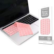 VFENG Premium Keyboard Cover Skin for MacBook Pro 13 inch with Touch Bar and MacBook Pro 15 inch with Touch Bar(2016/2017/2018/2019+), Backlight-(Sakura Pink)