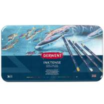 Derwent Colored Pencils, Inktense Ink Pencils, Drawing, Art, Metal Tin, 36 Count (2301842)