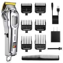 Hatteker Mens Hair Clipper Cordless Hair Trimmer Professional Haircut Barber Kit Hair Cutting Kit Rechargeable