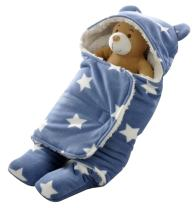 """October Elf Newborn Infant Baby Thicken Sleeping Bag Blanket Wrap for Autumn and Winter (M(30.7""""X33.9""""), A)"""