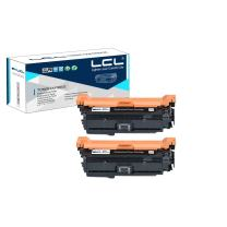 LCL Remanufactured Toner Cartridge Replacement for HP 651A CE340A 700 M775 (2-Pack Black)