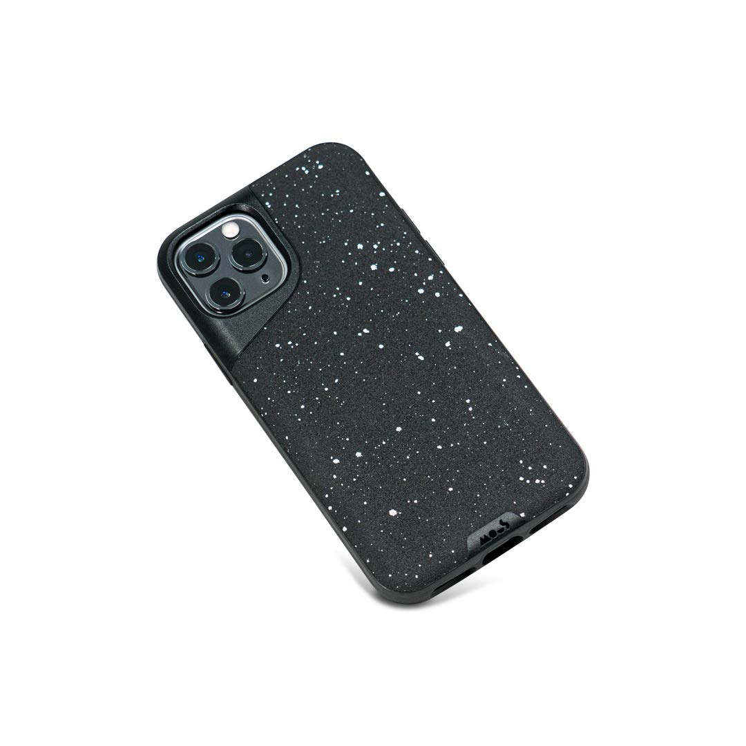 Mous - Protective Case for iPhone 11 Pro - Contour - Speckled Black Leather - No Screen Protector