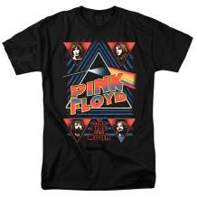 Pink Floyd Dark Side of The Moon Pyramid T Shirt & Stickers