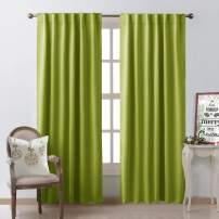 NICETOWN Green Curtains Blackout Drapery Panels - (Grass Green Color) W52 x L95, Double Panels, Window Treatment Draperies for Apartment