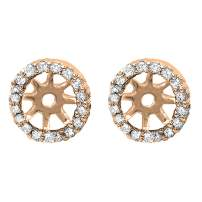 Dazzlingrock Collection 0.25 Carat (ctw) Round Diamond Removable Jackets for Stud Earrings 1/4 CT