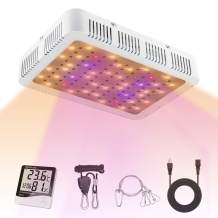 Ismile 1000W LED Grow Light Full Spectrum Veg and Bloom Dual Switch Growing Lamp with Adjustable Installation Rope and Daisy Chain for Indoor Plants (Actual Power 105 Watt)