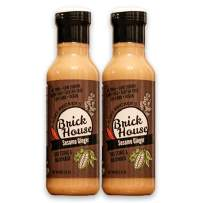 Sesame Ginger - Vegan Salad Dressing & Marinade Made With Organic Coconut Aminos & Non-GMO Sunflower Oil by Brick House Vinaigrettes. Keto friendly / Paleo / Low Sodium / Low Carb (12 ounce, two pack)
