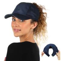Ponyflo Active Ponytail Hat - Ponytail Caps for Women, Designed for Curly Hair