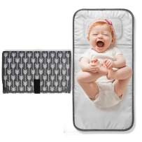 Lekebaby Portable Diaper Changing Pad,Waterproof Baby Travel Change Mat Station,Arrow Print