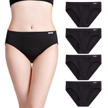 wirarpa Women's Soft Modal Underwear High-Cut French Briefs Panties Ladies Stretch Underpants Multipack