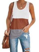 Inorin Womens Workout Tank Tops Racerback Color Block Casual Sport Summer Sleeveless T Shirts