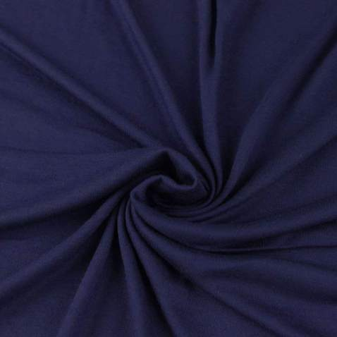 FabricLA Cotton Spandex Jersey Fabric 12 oz - Solid Colors (1 Yard, Navy)