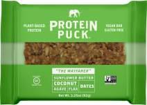 Protein Puck Bar, Sunflower Butter Coconut, Gluten Free, Vegan, Non GMO, Fiber Rich, Non-Dairy, 16ct Case