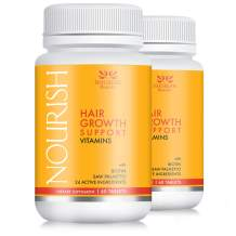 Nourish Beaute Hair Vitamins for Hair Loss and Thinning That Promotes Regrowth for Men and Women, 2 Bottles of 60 Tablets
