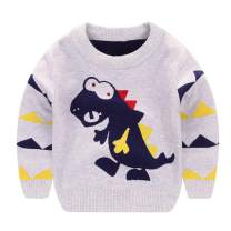 LittleSpring Little Boys Knit Pullover Sweater Warm