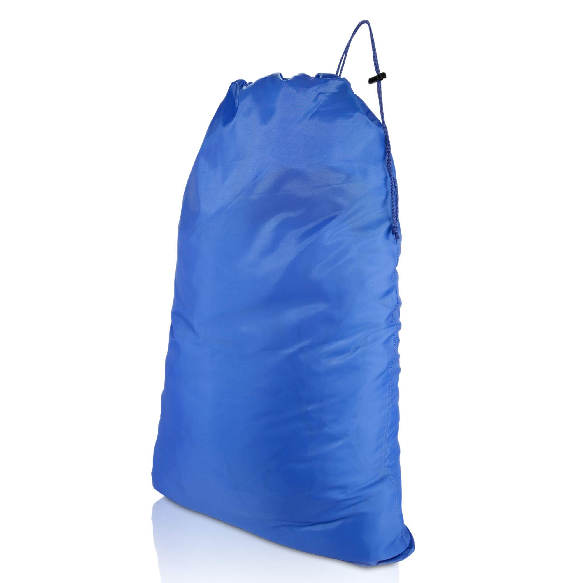 DALIX Large Laundry Bag Drawstring Sack Heavy Duty Tear Resistant in Royal Blue