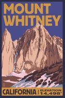 Mt Whitney, California - Peak 33400 (16x24 SIGNED Print Master Art Print - Wall Decor Poster)