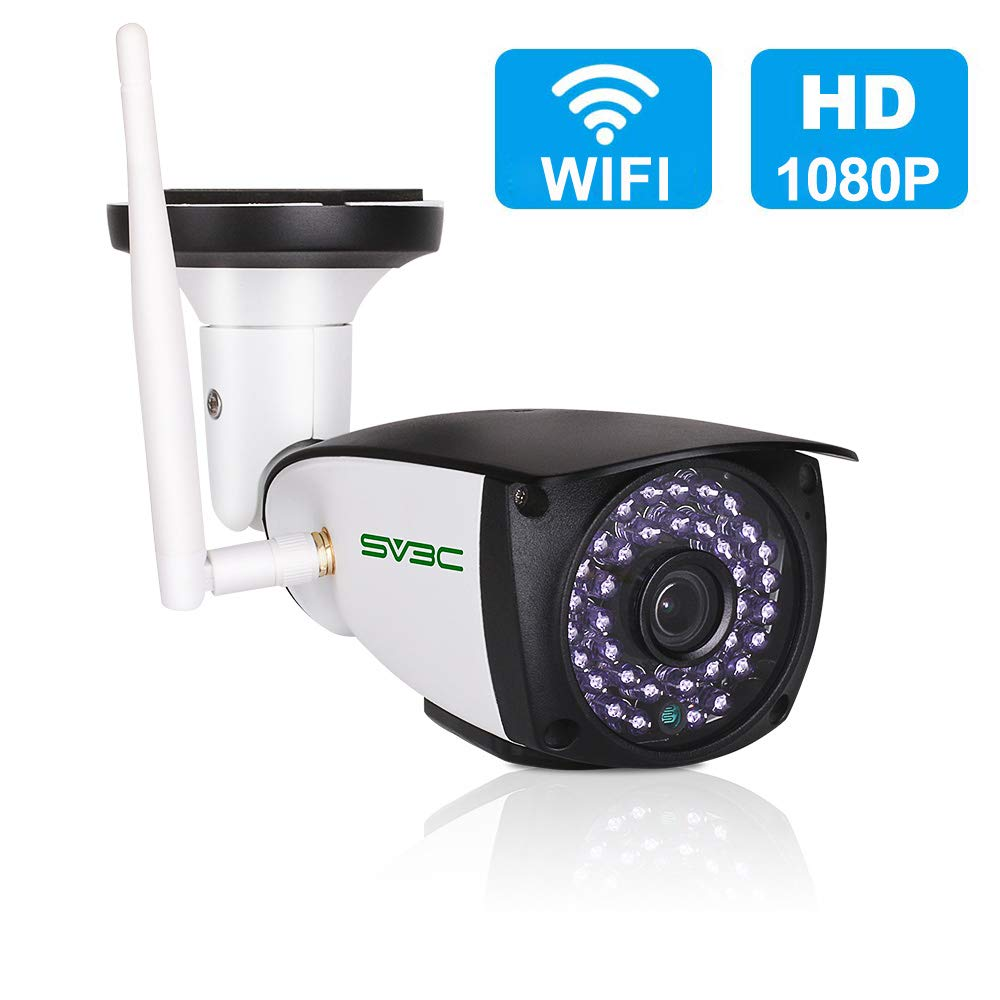 [Updated Version] WiFi Camera Outdoor, SV3C 1080P HD Two Way Audio Security Camera, Motion Detection CCTV, IR LED Night Vision Surveillance IP Cameras for Indoor Outdoor, Support Max 128GB SD Card