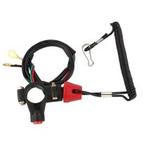Marine Kill Stop Switch Lanyard, Engine Safety Stop Lanyard Cord Kill Stop Switch, Safety Tether Lanyard for Motor ATV Boat Outboard